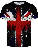 abordables Camisetas y Tops de Hombre-Hombre Camiseta 3D Arco Iris XL