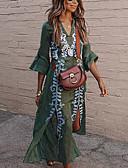povoljno Majica-Žene Elegantno A kroj Haljina - Čipka S izrezom, Geometrijski oblici V izrez Maxi