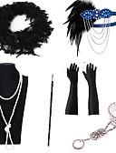 זול להקות Smartwatch-גאטסבי הגדול סטים אביזר תלבושות כפפות שרשרת רטרו\וינטאג' שנות ה-20 גטסבי שרשרת עגיל עבור מסיבה\קוקטייל פֶסטִיבָל האלווין (ליל כל הקדושים) קרנבל בגדי ריקוד נשים תכשיטי תלבושות / לבוש ראש / מקל סיגריה