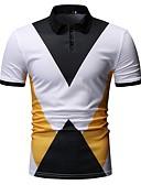 preiswerte Herren Polo Shirts-Herrn Einfarbig Polo, Hemdkragen Weiß XL / Kurzarm