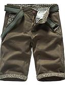 tanie Męskie spodnie i szorty-Męskie Podstawowy Szczupła Szorty Spodnie - Wiele kolorów Bawełna Szary Zieleń wojskowa Khaki 34 36 38