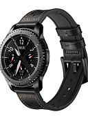 זול להקות Smartwatch-צפו בנד ל Gear S3 Frontier Samsung Galaxy אבזם מודרני עור אמיתי רצועת יד לספורט