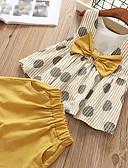 Χαμηλού Κόστους Σετ ρούχων για κορίτσια-Παιδιά Νήπιο Κοριτσίστικα Ενεργό Βασικό Μονόχρωμο Πουά Συνδυασμός Χρωμάτων Φιόγκος Στάμπα Αμάνικο Κοντό Κοντό Βαμβάκι Spandex Σετ Ρούχων Ανθισμένο Ροζ