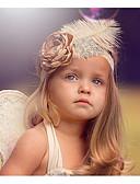זול ילדים כובעים ומצחיות-מידה אחת ורוד מסמיק אביזרי שיער תחרה סגנון פרחוני פרחוני / ציפור חִנָנִית בסיסי / מתוק בנות פעוטות