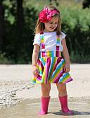 זול שמלות לתינוקות-סט של בגדים כותנה שרוולים קצרים קשת יום יומי / בסיסי בנות תִינוֹק / פעוטות