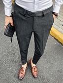 abordables Pantalones y Shorts de Hombre-Hombre Básico Chinos Pantalones - Un Color Negro Gris Oscuro Morado 33 34 36
