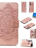 Недорогие Чехлы для телефонов-Кейс для Назначение SSamsung Galaxy A6 (2018) / A6+ (2018) / Galaxy A7(2018) Кошелек / Бумажник для карт / со стендом Чехол Однотонный / Цветы Твердый Кожа PU