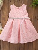 זול סטים של ביגוד לתינוקות-שמלה כותנה עד הברך ללא שרוולים פפיון אחיד / פרחוני פעיל / בסיסי בנות תִינוֹק / פעוטות