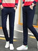 levne Pánské kalhoty a kraťasy-Pánské Základní Štíhlý Kalhoty chinos Kalhoty - Jednobarevné Klasika Bavlna Khaki Světle šedá Námořnická modř 34 36 38