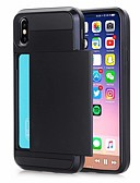 cheap iPhone Cases-Case For Apple iPhone XR / iPhone XS Max Card Holder Back Cover Solid Colored Hard PU Leather for iPhone XS iPhone 8 Plus 8 iPhone 7 Plus 7 iPhone 6 Plus 6