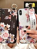 זול מגנים לאייפון-מגן עבור Apple iPhone XS / iPhone XR / iPhone XS Max עם מעמד / תבנית כיסוי אחורי פרח רך סיליקון