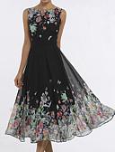 זול שמלות מיני-פרפר מידי דפוס שמלה סווינג רזה אלגנטית חוף בגדי ריקוד נשים