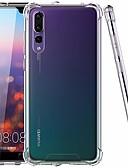 זול מגנים לטלפון-מגן עבור Huawei Huawei P20 / Huawei P20 Pro / Huawei P20 lite עמיד בזעזועים / אולטרה דק / שקוף כיסוי אחורי אחיד קשיח TPU