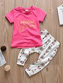 זול שמלות לתינוקות-סט של בגדים שרוולים קצרים דפוס בנות תִינוֹק