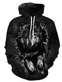 זול טרנינגים וקפוצ'ונים לגברים-3D Jacket hoodie בסיסי בגדי ריקוד גברים
