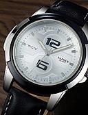 Недорогие Эксклюзивные часы-YAZOLE Муж. Нарядные часы Кварцевый Формальный Кожа Черный / Коричневый Светящийся Повседневные часы Аналоговый Роскошь Мода - Черный Черно-белый Белый / Бежевый Один год Срок службы батареи