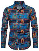 זול חולצות לגברים-גראפי / שבטי צווארון קלאסי פאנק & גותיות מועדונים חולצה - בגדי ריקוד גברים דפוס פול / שרוול ארוך