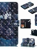 זול מגנים לטלפון-מגן עבור Samsung Galaxy A6 (2018) / A6+ (2018) / Galaxy A7(2018) ארנק / מחזיק כרטיסים / עמיד בזעזועים כיסוי מלא כלב / אנימציה קשיח עור PU