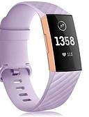 זול להקות Smartwatch-צפו בנד ל Fitbit Charge 3 פיטביט רצועת ספורט סיליקוןריצה רצועת יד לספורט