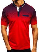 hesapli Erkek Gömlekleri-Erkek Polo Kırk Yama, Zıt Renkli Temel / Sokak Şıklığı Siyah XL