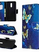 Недорогие Чехлы для телефонов-Кейс для Назначение LG LG Stylo 4 / LG Stylo 5 / LG K10 2018 Кошелек / Защита от удара / со стендом Чехол Бабочка Твердый Кожа PU