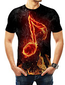 cheap Men's Tees & Tank Tops-Men's Casual / Daily T-shirt - 3D Print Black XXXXL