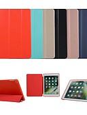 זול מגנים לאייפון-מארז מלא לגוף ipad Pro 9.7 / ipad מיני 3/2/1 / ipad 4/3/2 אוטומטי לישון / להתעורר / מגנטי מלא גוף המקרים מוצק צבע tpu קשה / עור pu עבור ipad Pro 9.7 '' / ipad (2017) / ipad Pro 10.5