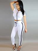 זול חליפות שני חלקים לנשים-מכנס טלאים, אחיד - סט בסיסי / סגנון רחוב בגדי ריקוד נשים