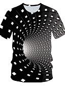 povoljno Muške majice i potkošulje-Majica s rukavima Muškarci - Osnovni Dnevno 3D Duga XXL