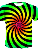 halpa Miesten t-paidat ja hihattomat paidat-Miesten Color Block Perus T-paita Apila US42