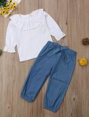 זול אוברולים טריים לתינוקות-סט של בגדים שרוול ארוך אחיד בנות תִינוֹק