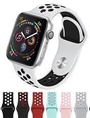 זול מגני מסך ל-iPhone-צפו בנד ל Apple Watch Series 4/3/2/1 Apple רצועת ספורט סיליקוןריצה רצועת יד לספורט