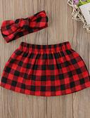 povoljno Hlačice za bebe-Dijete Djevojčice Aktivan / Osnovni Karirani uzorak Kratke hlače Red