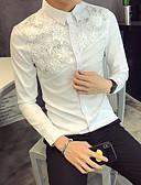 preiswerte Herrenhemden-Herrn Solide - Grundlegend Hemd Weiß M