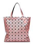 povoljno Majica-Žene Patent-zatvarač Tote torbica PU / sintetički Color block Milky White / Tamno zelena / Srebro
