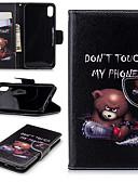 זול מגנים לטלפון-מגן עבור Apple iPhone XS / iPhone XR / iPhone XS Max מחזיק כרטיסים / עם מעמד / נפתח-נסגר כיסוי מלא נוף / חיה / אנימציה קשיח עור PU / עור אמיתי