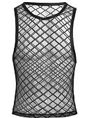 זול תחתוני גברים אקזוטיים-בגדי ריקוד גברים נורמלי סקסית צווארון עגול גוּפִיָה אחיד רשת