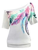 billige Skjorter til damer-Enskuldret T-skjorte Dame - Grafisk Rosa