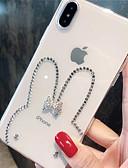 זול מגנים לאייפון-מארז iPhone 7 פלוס / iPhone 8 פלוס ברק זוהר / שקוף / ריינסטון בחזרה לכסות נצנוץ ברק רכה סיליקה ג'ל עבור iPhone 7 פלוס / iPhone 8 פלוס