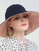 זול כובעים לנשים-כל העונות שחור כחול נייבי יין כובע שמש קולור בלוק כותנה פעיל בסיסי סגנון חמוד בגדי ריקוד נשים