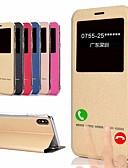 זול מגנים לאייפון-מגן עבור Apple iPhone XS / iPhone XR / iPhone XS Max נפתח-נסגר / שינה / השכמה אוטומטי כיסוי מלא אחיד רך עור PU