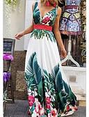 זול סרבלים ואוברולים לנשים-מקסי פרחוני - שמלה סווינג בגדי ריקוד נשים
