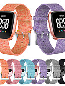 זול להקות Smartwatch-צפו בנד ל Fitbit Versa / Fitbit Versa לייט פיטביט אבזם קלאסי בד רצועת יד לספורט