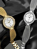 זול שעונים קוורץ-בגדי ריקוד נשים קווארץ אופנתי אלגנטית כסף זהב ורד מתכת אל חלד Japanese קווארץ זהב ורד זהב כסף שעונים יום יומיים יחידה 1 אנלוגי שנה אחת חיי סוללה