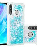 זול מגנים לטלפון-מגן עבור Huawei Huawei P20 / Huawei P20 Pro / Huawei P20 lite עמיד בזעזועים / נוזל זורם / שקוף כיסוי אחורי זוהר ונוצץ רך TPU / P10 Lite
