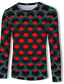 abordables T-shirts & Débardeurs Homme-Tee-shirt Homme, Géométrique / Bloc de Couleur / 3D Imprimé Basique / Chic de Rue Rouge US40
