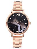 זול שעונים-בגדי ריקוד נשים שעון מכני קווארץ עמיד במים אנלוגי אופנתי - כסף זהב ורד / מתכת אל חלד