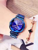 זול שעונים-בגדי ריקוד נשים שעון מכני קווארץ מתכת אל חלד זוהר בחושך אנלוגי אופנתי - אדום ירוק כחול
