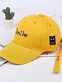 זול ילדים כובעים ומצחיות-מידה אחת שחור / אודם / צהוב כובעים ומצחיות כותנה מסוגנן / רקום אחיד / אותיות וינטאג' / פעיל / בסיסי בנים / בנות ילדים / פעוטות