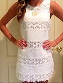 cheap Romantic Lace Dresses-Women's Basic Bodycon Dress - Striped Tassel White L XL XXL